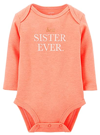 bbbb81329521 Amazon.com  Carters Baby Girls Neon Best Sister Ever Bodysuit 6 ...