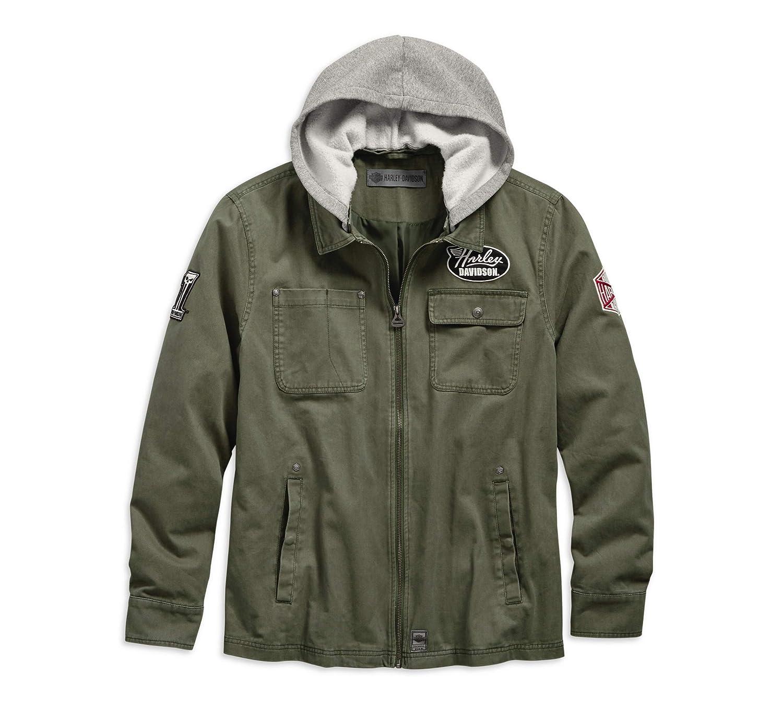 Harley-Davidson Official Mens Hooded Cotton Slim Fit Jacket ...