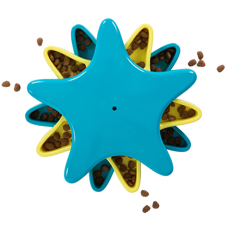 Outward Hound Kyjen 41005 Star Spinner Leckerchen-Spielzeug Hundespielzeuge Geruch Puzzle Trainingsspielzeug, Größe L, Blau Größe L