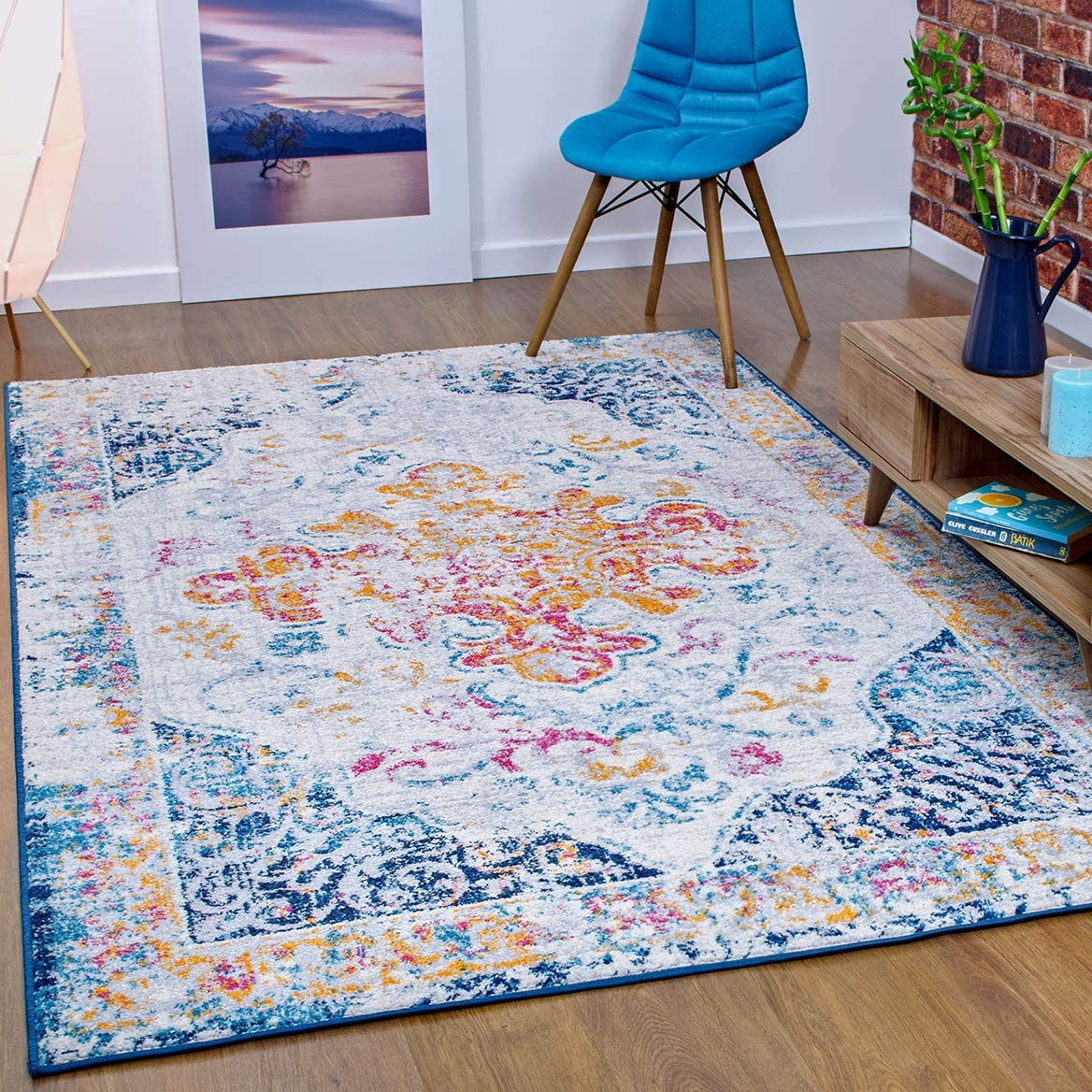 Antep Rugs Elite Collection Bohemian Distressed DSG44 Indoor Area Rug Multi, 9 x 12