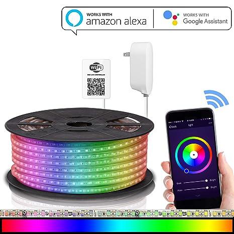 8eaaec5445c Maxonar - Tira de luces LED compatible con Alexa