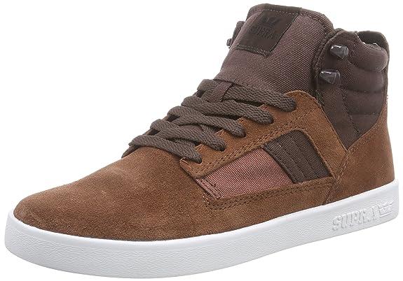 Supra Chaussures En Cuir, Homme Tissu Brun Brun, Brun, Taille 40.5