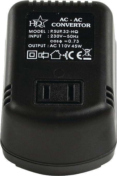 Transformador Conversor de Tensión 230V a 110V 45W HQ P.SUP.32-HQ ...