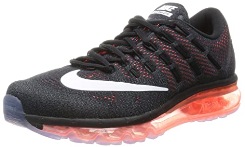 NIKE Airmax 2016 Homme Basket Sports Running Chaussures Noir