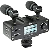 Vidpro XM-AD5 Mini Pre-Amp Smart Mixer with Dual Condenser Microphones - Designed for DSLR's, Video Cameras and SmartPhones