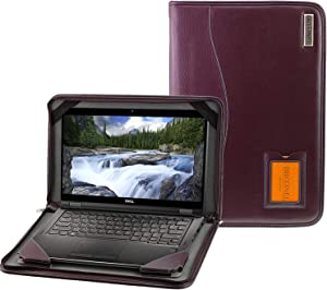 Navitech Broonel - Contour Series - Purple Heavy Duty Leather Protective Case Cover Compatible with The Acer Chromebook 15 CB515-1HT-P39B, Pentium N4200, 15.6""