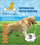 Pet Laugh Updated Version Dog Water Fountain Automatic Dog Waterer Step-on Outdoor Fresh Cold Drinking Water for Dogs…