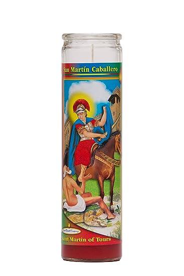 St Martin Caballero Religious Prayer Candle / San Martin Caballero Novena Vigil Candle