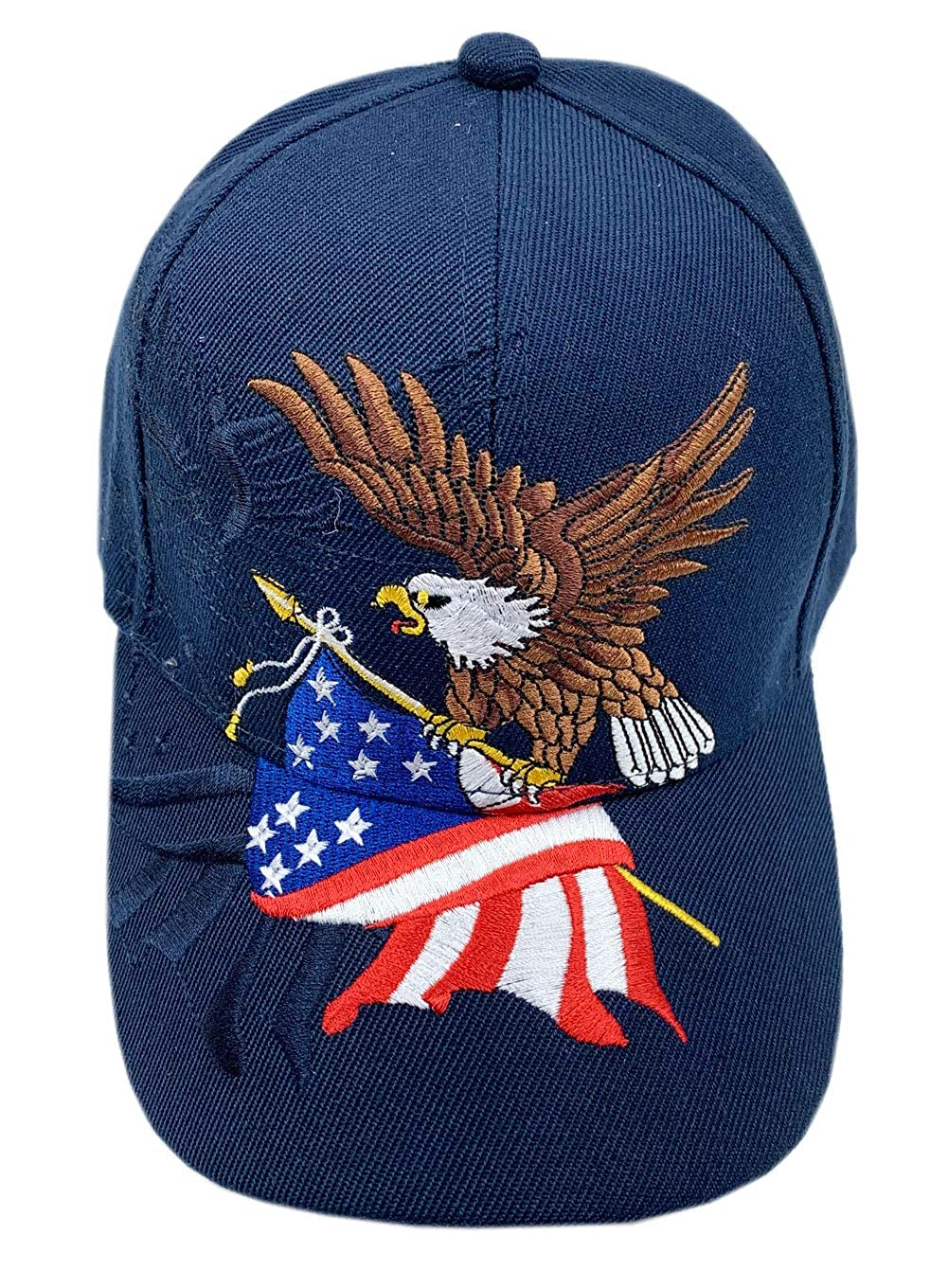 aesthetinc Patriotic USA American Flag Print Baseball Cap Embroidered