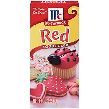 Amazoncom  McCormick Red Food Color 1 fl oz  Food Coloring