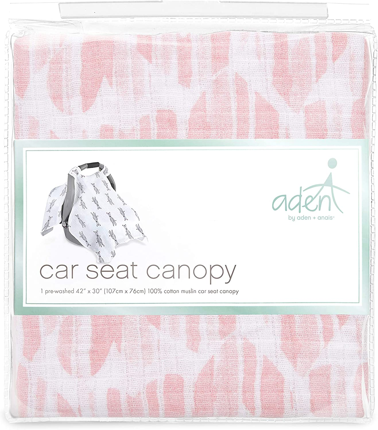 anais Car Seat Canopy 100/% Cotton Muslin aden by aden Retro Washed Star