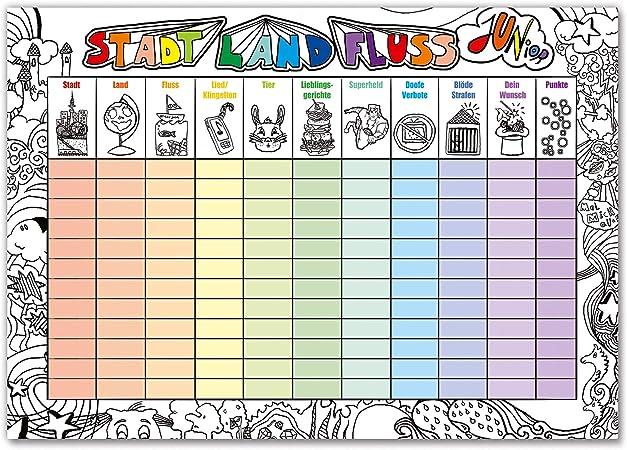 Preis am Stiel Juego de Mesa Infantil con diseño de Barco de la Ciudad, el país, el río Junior, Ideal como Idea de Regalo para niños, Mantel Lavable: Amazon.es: Hogar