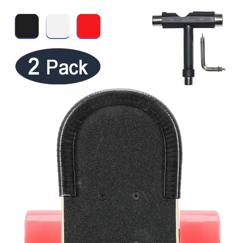 noir Longboard Edge Protector avec Skateboard Outils Tournevis Phillips YOUSHARES Skateboard gardes Nez et Queue du Pont de gardes Prot/ège planche /à roulettes Protection