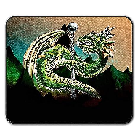 Yanteng Mauspads, Drachenstreitkolben Cool Fantasy Scary Beast Rutschfeste Mauspad