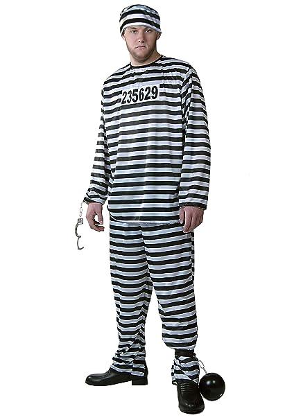 Amazon.com Men\u0027s Prisoner Costume Prison Suit Jail Costume