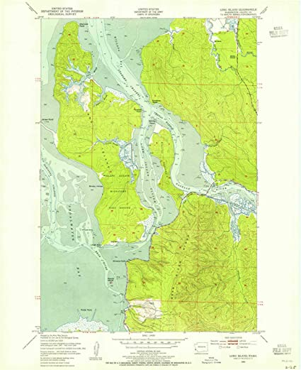 Topographic Map Long Island.Amazon Com Yellowmaps Long Island Wa Topo Map 1 24000 Scale 7 5
