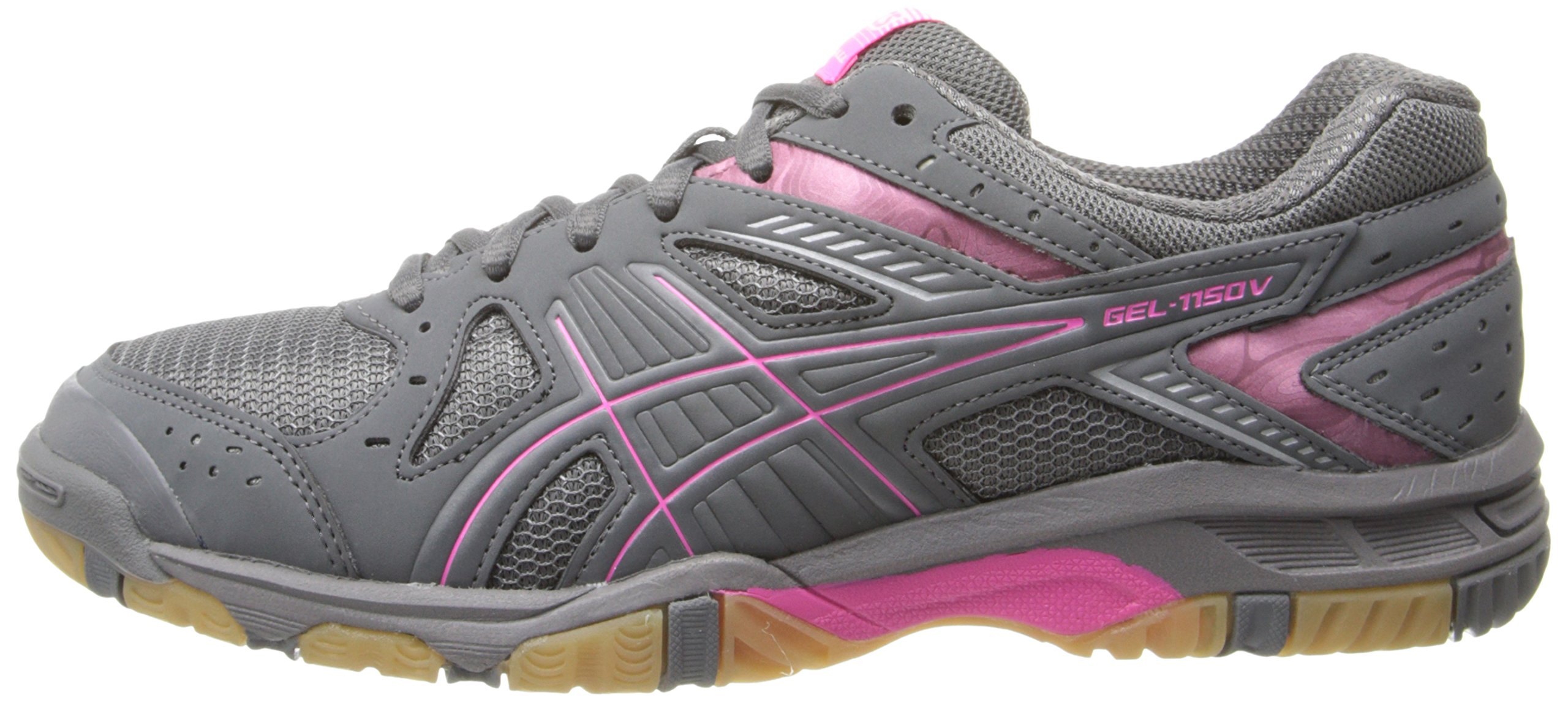 ASICS Women's Gel 1150V Volley Ball Shoe,Smoke/Knock Out Pink/Silver,8 M US by ASICS (Image #5)