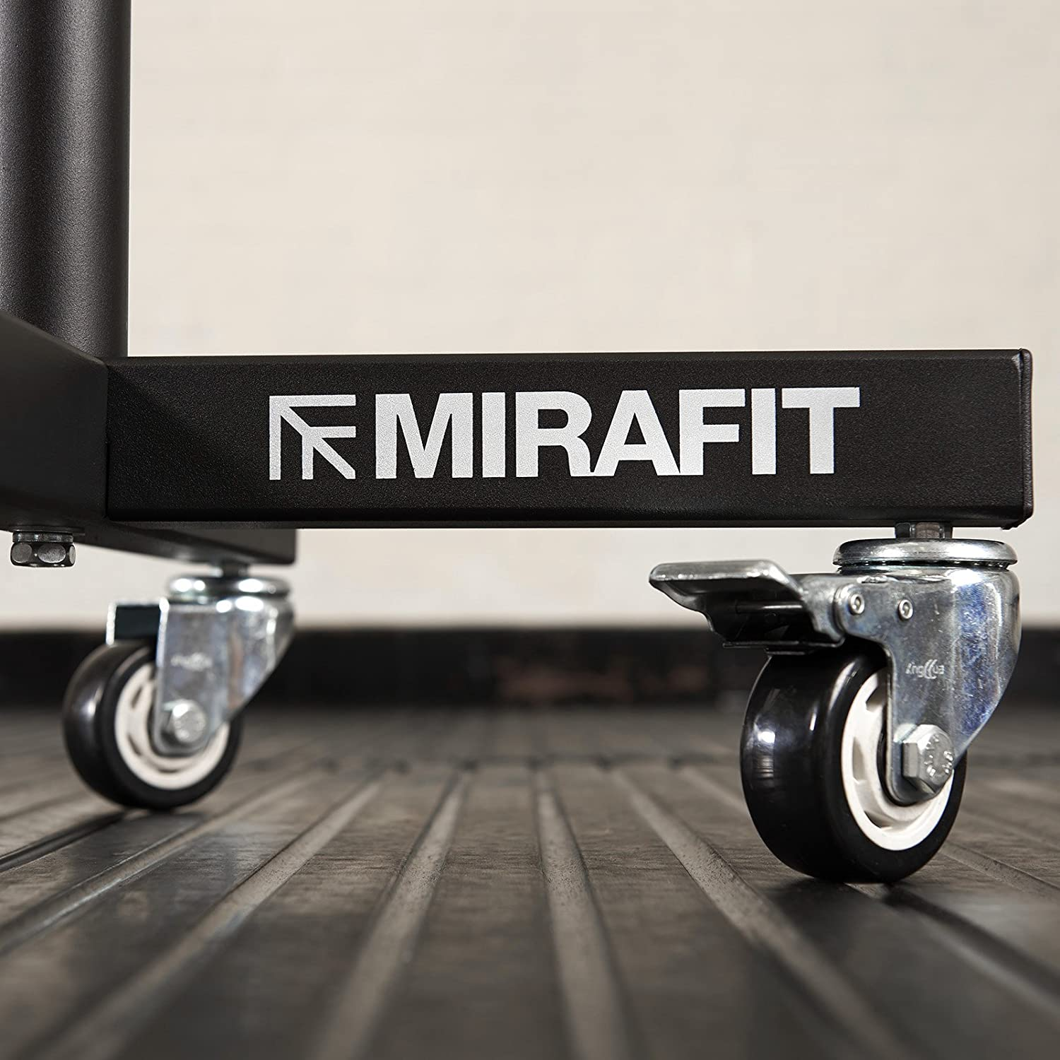 Mirafit Bumper Plate Stacker Trolley Movable Gym Weight Storage