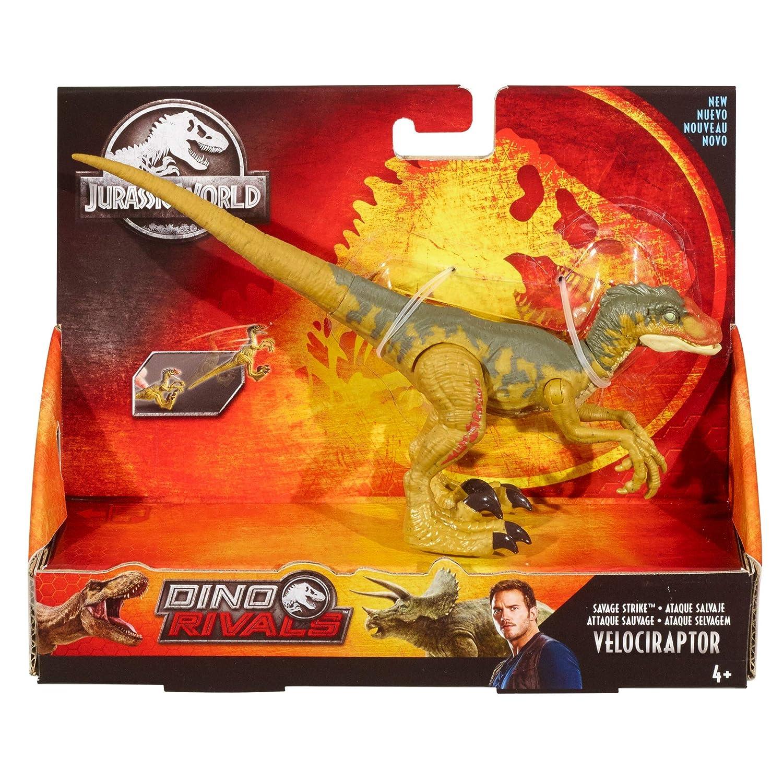 Mattel GFG66 dinosaurio de juguete Velocirr/áptor Jurassic World Ataque Salvaje