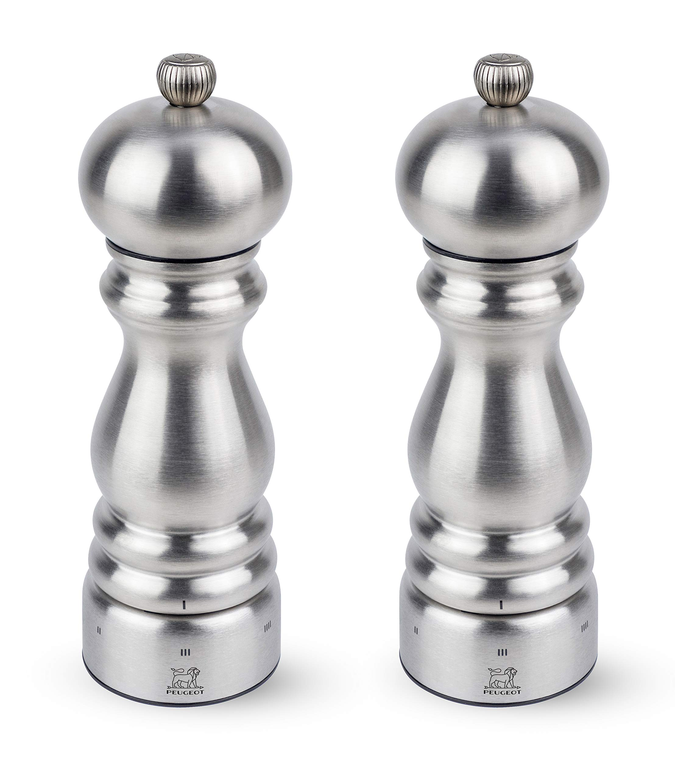 Peugeot Paris Chef u'Select Stainless Steel 7'' Pepper & Salt Mill Set by Peugeot