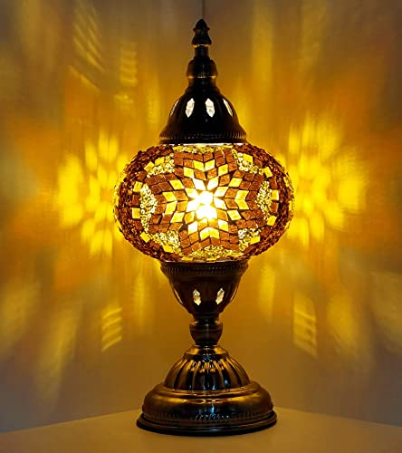 Marrakech Turkish Table Lamp Moroccan Tiffany Lantern Lamp Handmade Mosaic Glass Desk Bedside Table Night Lamp