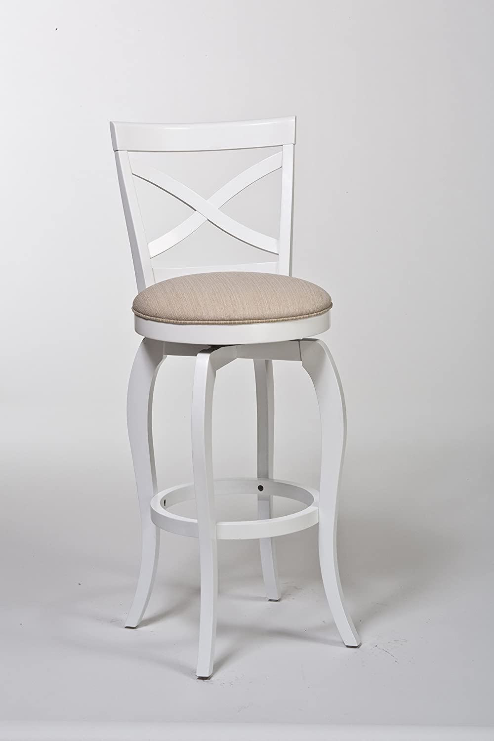 Amazon.com: Traditional Counter Stool in White: Kitchen & Dining