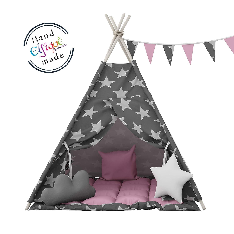 Elfique Tente de jeu Tipi pour les enfants avec couverture double rembourr/ée de Klara Brist.