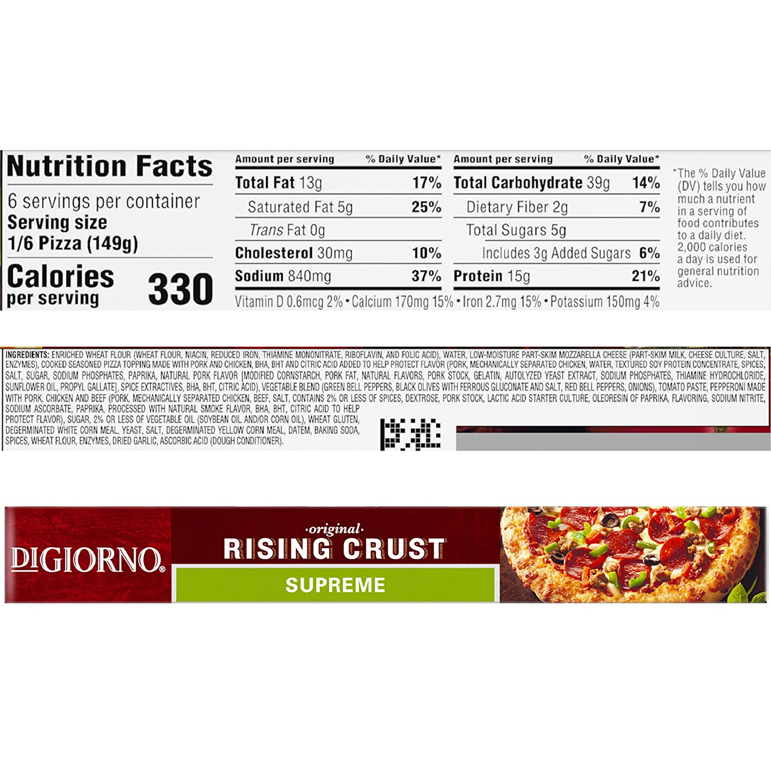Digiorno Supreme Rising Crust 12 Inch Pizza 31 5 Ounce Frozen Com Grocery Gourmet Food