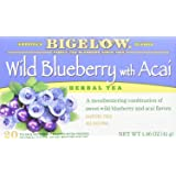BIGELOW Herbal Tea Wild Blueberry with Acai, 20 Count
