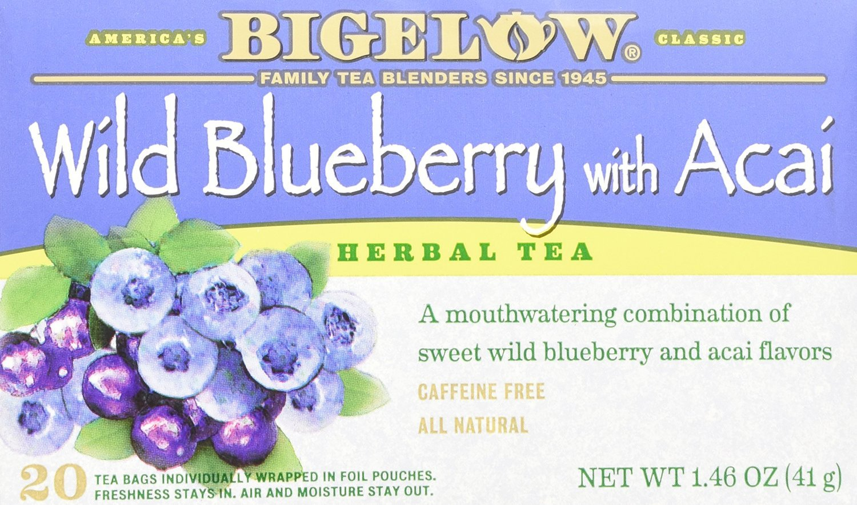 Bigelow herbal tea - Bigelow Herbal Tea Wild Blueberry With Acai 20 Count 50 Off