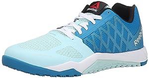 Reebok Women's Ros Workout TR Training Shoe, Conrad Blue/Cool Breeze/White/Black, 8.5 M US