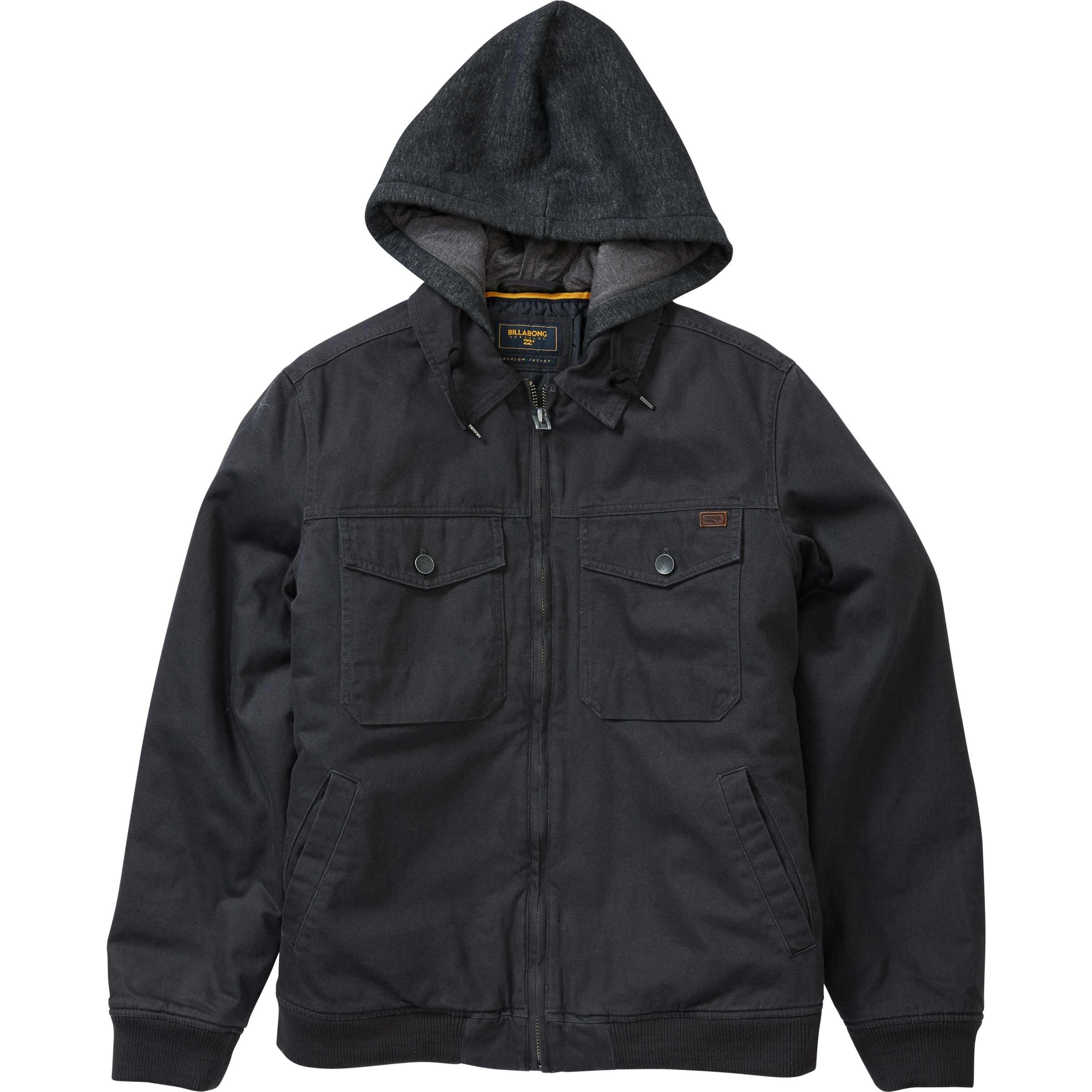 Billabong Men's Barlow Twill Jacket Char Large by Billabong