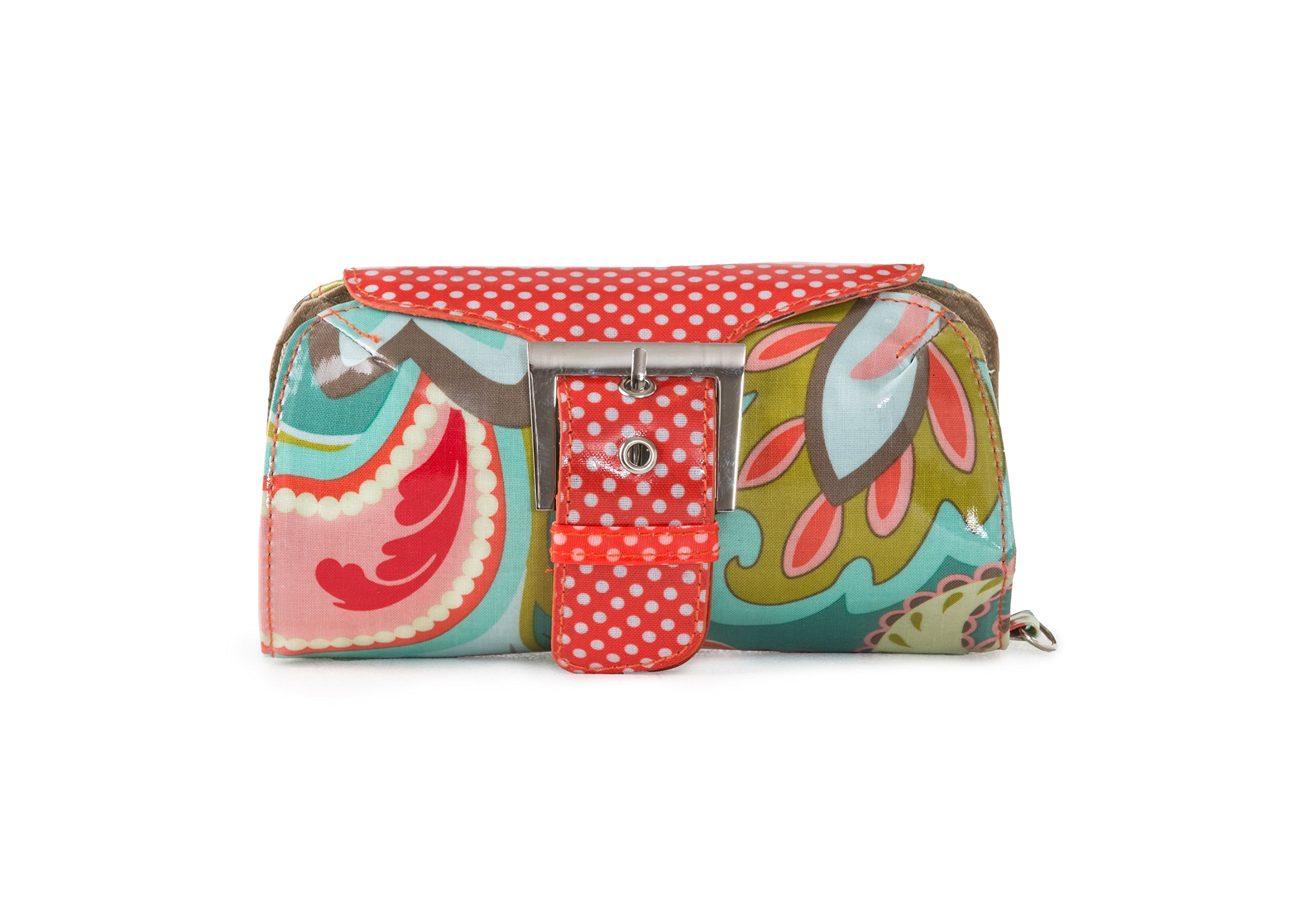 In A Pikle Dill in Coral Paisley With Interior Pouches And Coordinating Wristlet by In a Pikle