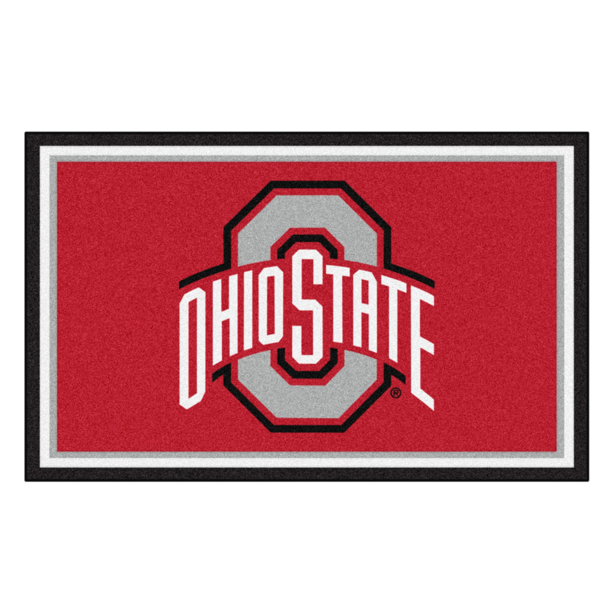 FANMATS NCAA Ohio State University Buckeyes Nylon Face 4X6 Plush Rug by FANMATS (Image #1)