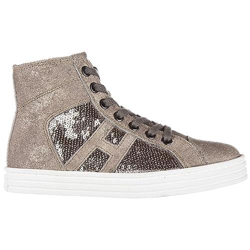 Hogan Rebel Sneakers Alte Bambino Argilla - palude 30 EU  Amazon.it ... 839210d6a32