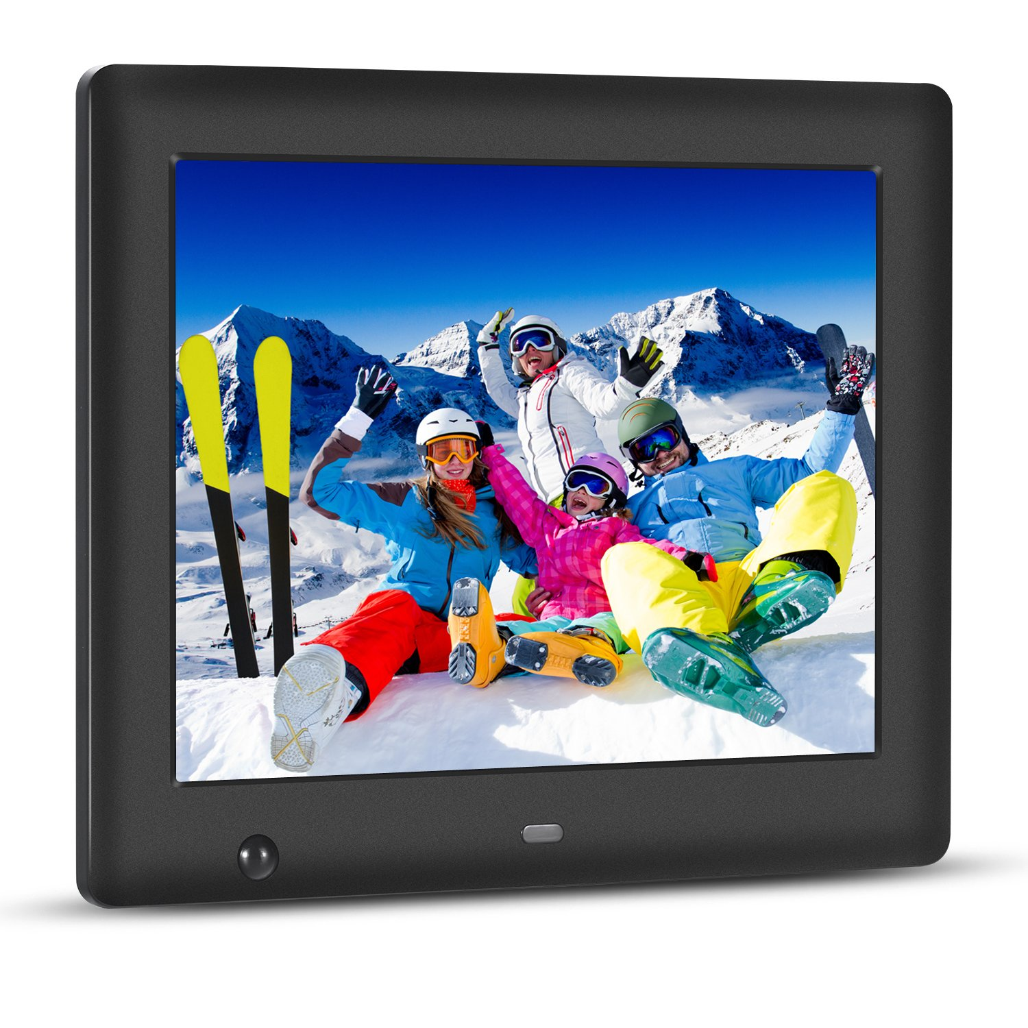 Apzka 8-Inch HD Digital Photo Frame with Motion Sensor, MP3 Photo Video & Music Playback, Calendar with 2GB Internal Memory & Remote Control (Black), by Apzka (Image #1)