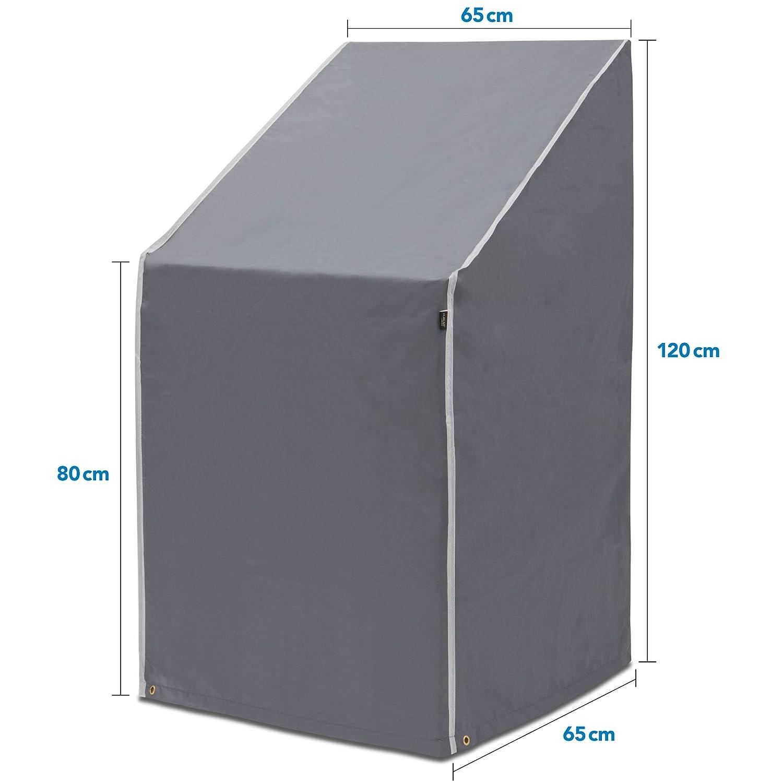 Purovi Funda para sillas apilables | Protectora para sillas de jardín y balcón Sillas | Oxford | Protección contra la Intemperie | Resistente al Agua, ...