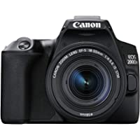 Canon DSLR EOS 200D Mark II, Black (200DIIKIS)