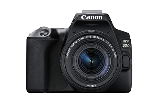 Canon EOS 200D II 24.1MP Digital SLR Camera + EF S 18 55mm f4 is STM Lens  Black  Digital SLR Cameras