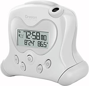 Oregon Scientific RM313PNFA New FLIP projection feature Self-Setting Projection Flip Clock, White