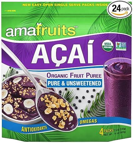 Amafruits Acai Berry Puree - Puro y sin azúcar: Amazon.com ...