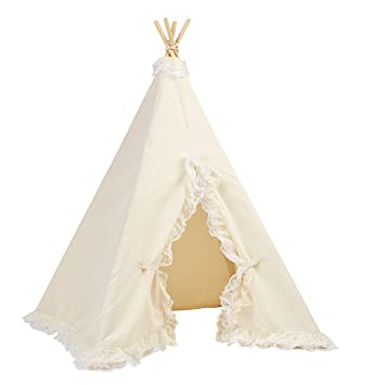 Lace Teepee Tent Natural Canvas  sc 1 st  Amazon.com & Amazon.com: Lace Teepee Tent Natural Canvas: Toys u0026 Games