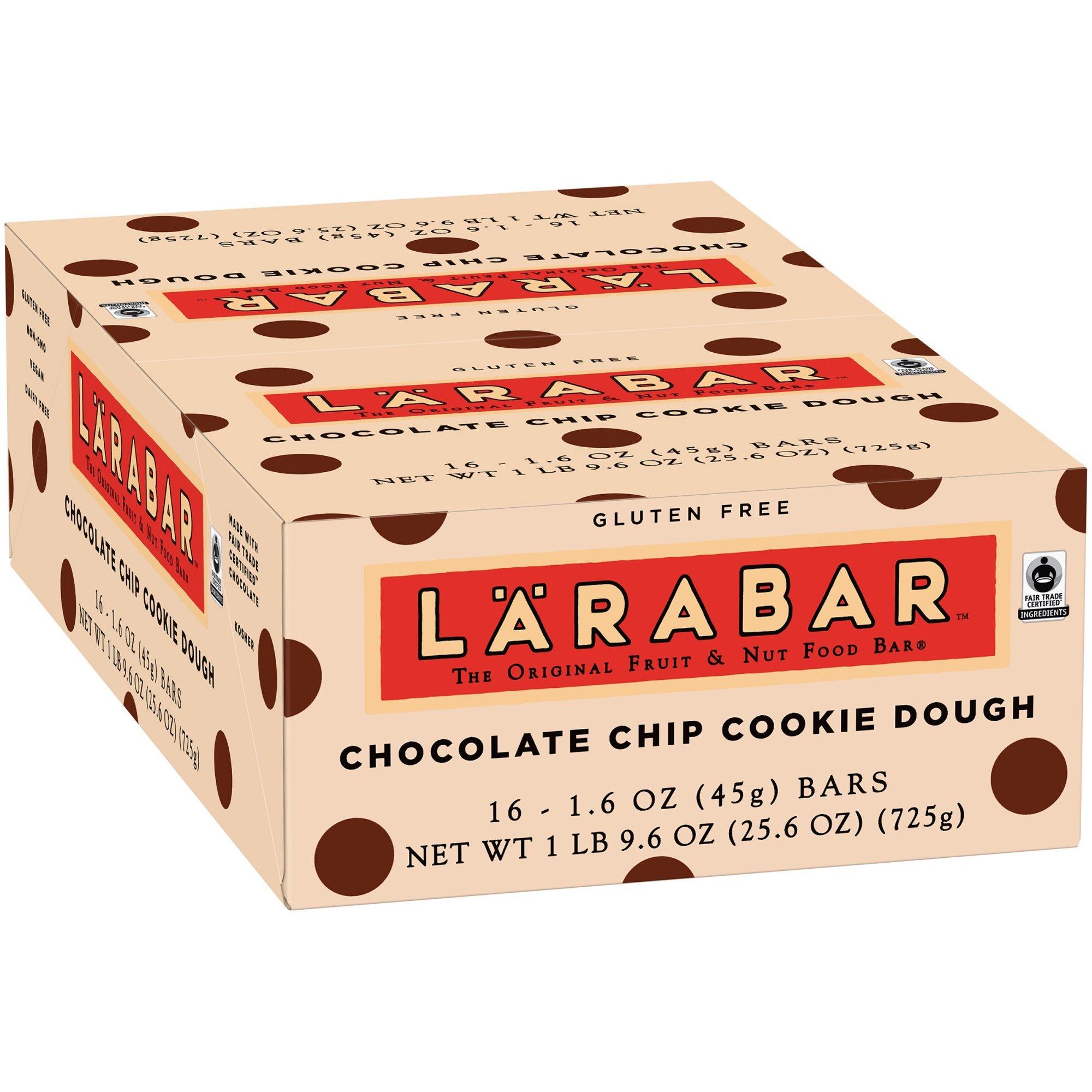 Lärabar Chocolate Chip Cookie Dough Fruit & Nut Bars 16 ct Box (Pack of 5)