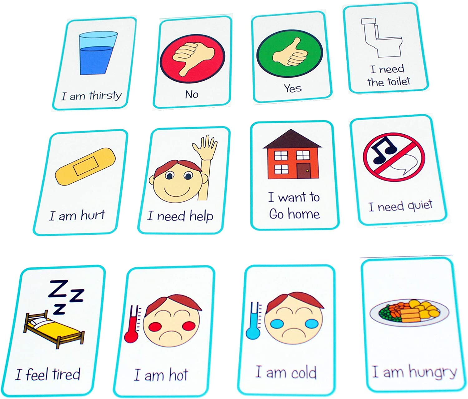 Kids2learn Autism Special Needs Basic Needs Communication Flash Cards Asd Amazon Co Uk Toys Games
