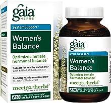 Gaia Herbs Women's Balance, Vegan Liquid Capsules, 60 Count - Hormone Balance for Women, Mood and Liver Support, Black Cohosh, St John's Wort, Organic Red Clover, Alfalfa & Dandelion Root