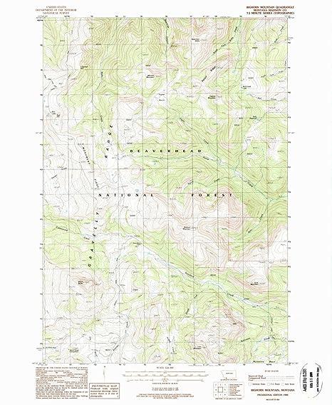 Amazon.com : YellowMaps Bighorn Mountain MT topo map, 1:24000 Scale ...
