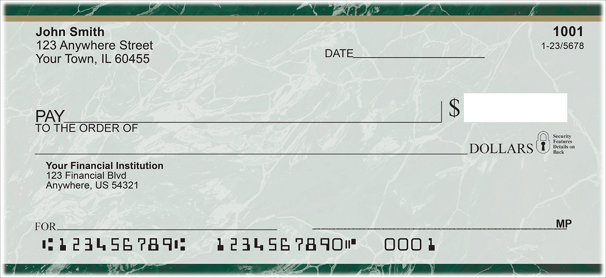 Marble Designer Personal Checks (1 Box Singles, Green)