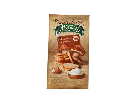 Maretti bruschette mushrooms and cream baked bread snack g