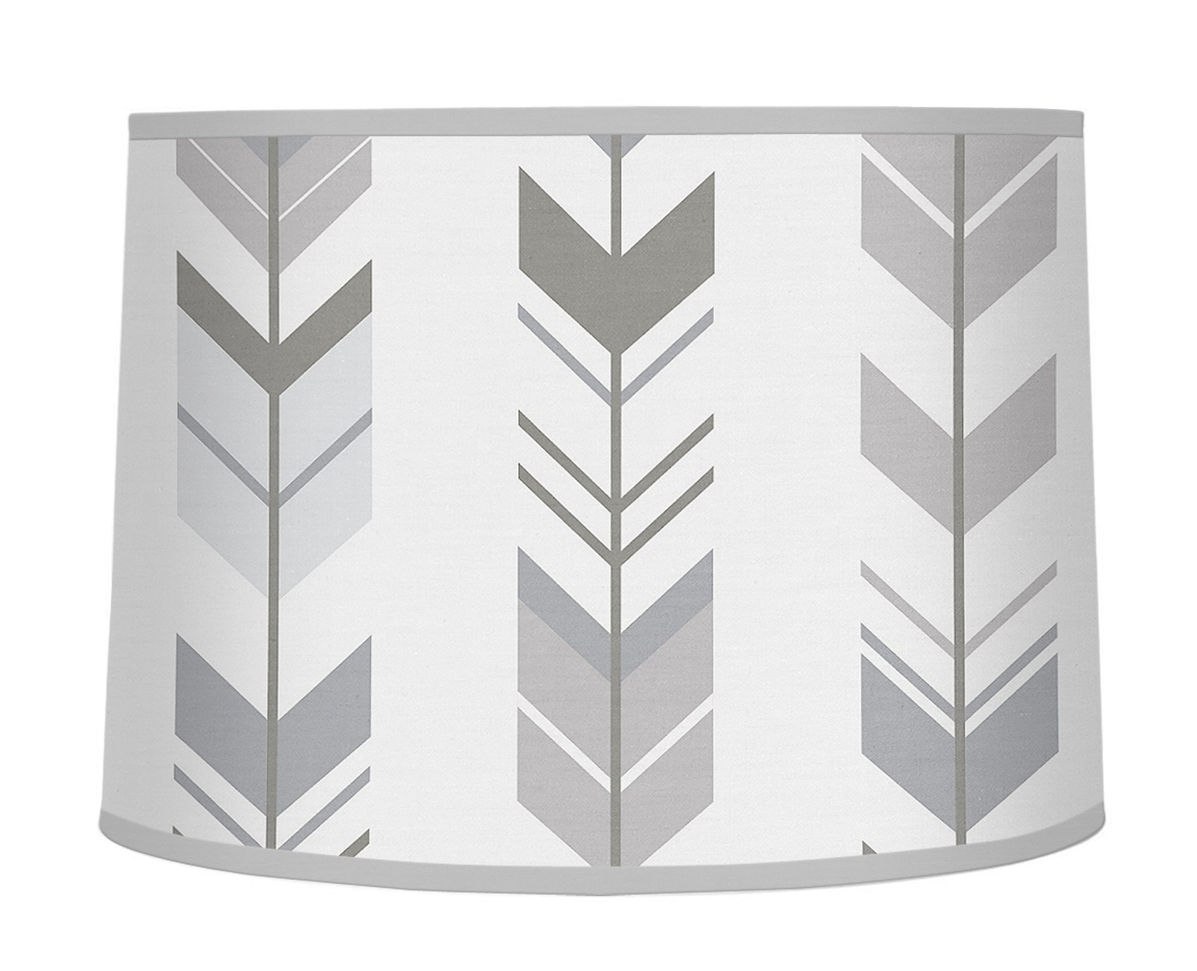 Sweet Jojo Designs Grey and White Lamp Shade for Woodland Arrow Collection by