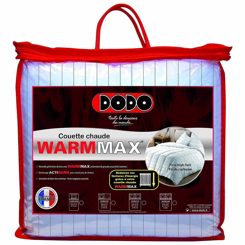 Dodo Warmmax Couette Unie Blanc 260 x 240 cm Très chaude Synthétique